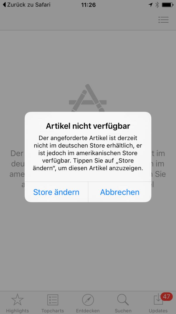 Keine der getesteten Apps ist außerhalb des US-App-Stores verfügbar.